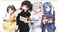 Konachan.com - 207074 isokaze_(kancolle) japanese_clothes kantai_collection mask teddy_bear urakaze_(kancolle) weapon white