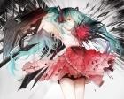 Konachan.com - 197347 aqua_eyes aqua_hair gun hatsune_miku long_hair sa'yuki skirt twintails vocaloid weapon