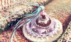 Konachan.com - 198562 aqua_eyes aqua_hair butterfly dress flowers hatsune_miku lolita_fashion long_hair m.xka petals signed twintails vocaloid