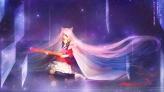 Konachan.com - 199783 animal_ears bell collar dress eyepatch guitar hatsune_miku instrument long_hair orry pink_hair vocaloid
