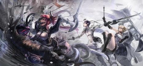 Konachan.com - 200130 animal armor cat kneehighs male mask pixiv_fantasia red_eyes red_hair sakazu_mekasuke sword weapon