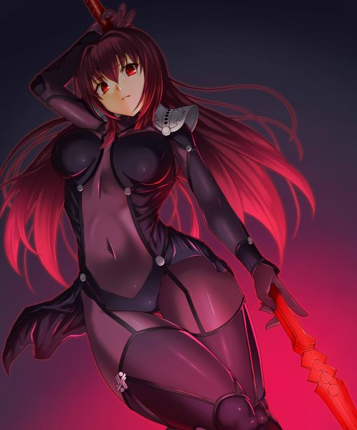 yande.re 344496 bodysuit emanon_123 fate_grand_order fate_stay_night scathach_(fate_grand_order) weapon
