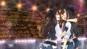 Konachan.com - 195311 black_hair brown_hair gloves green_eyes hao_(patinnko) hat honda_mio idolmaster long_hair ponytail shibuya_rin shimamura_uzuki short_hair