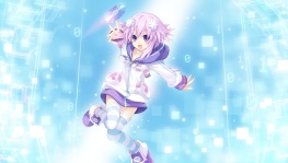 Konachan.com - 196213 choker compile_heart headdress hyperdimension_neptunia neptune pink_hair purple_eyes short_hair thighhighs tsunako