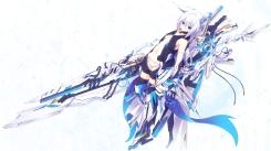 Konachan.com - 201024 animal_ears mechagirl original shio_(shia-ushio) sword weapon white