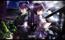 Konachan.com - 201592 2girls knife long_hair magic owari_no_seraph pantyhose seifuku short_hair uniform weapon yukimi_shigure