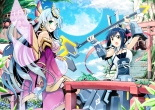 Konachan.com - 203303 2girls cosmic_break moon tagme weapon wings