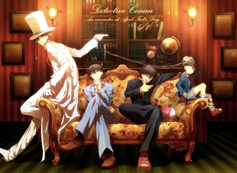 Konachan.com - 215531 abaraya all_male book chain couch detective_conan edogawa_conan group hat kaitou_kid kudou_shinichi kuroba_kaitou magic_kaito male suit uniform