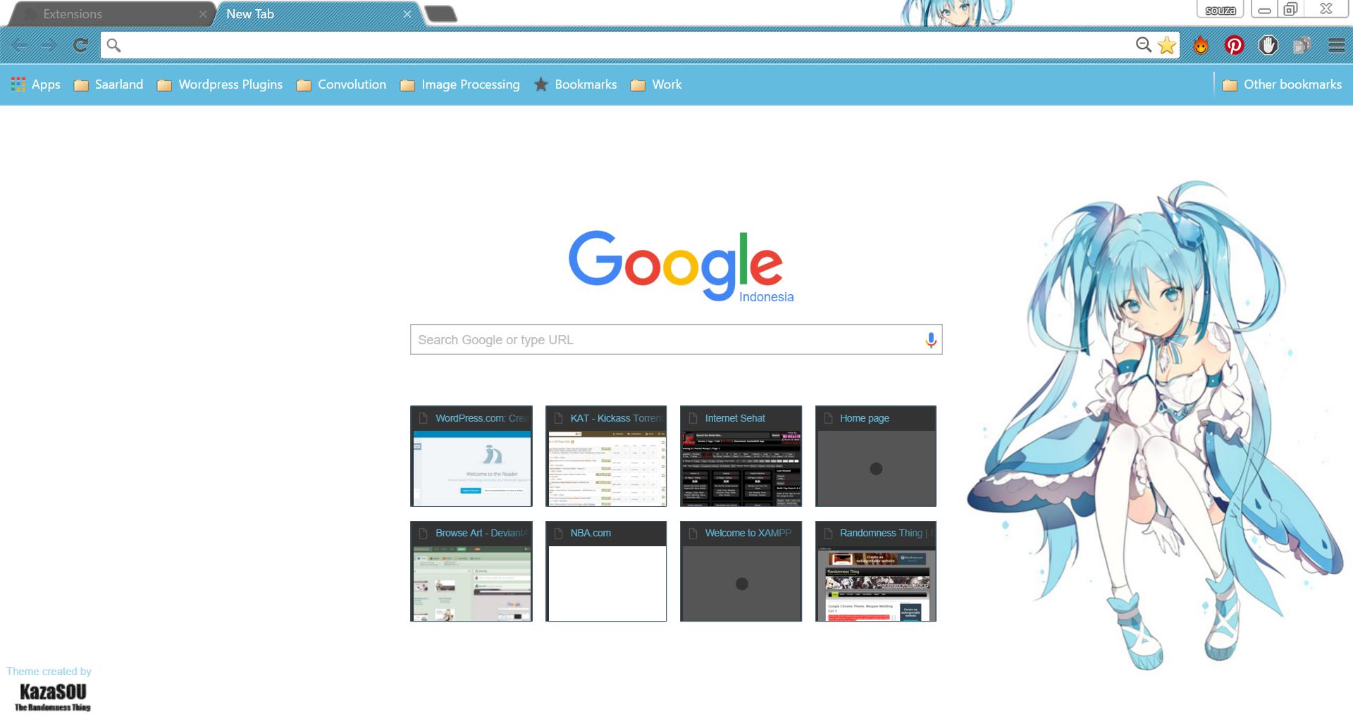 Google chrome themes hunter x hunter - Hatsune_miku_chrome7