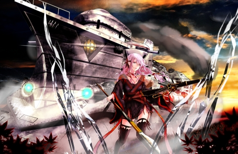 Konachan.com - 215364 aliasing guilty_crown japanese_clothes lolita_fashion tagme weapon yukata yuzuriha_inori