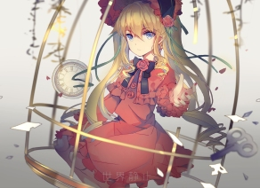 Konachan.com - 198056 blue_eyes dress goth-loli headdress jpeg_artifacts lolita_fashion long_hair ribbons rozen_maiden shinku twintails xiaohan6th