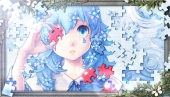 Konachan.com - 198066 blood blue blue_eyes blue_hair bouno_satoshi butterfly flowers original tears