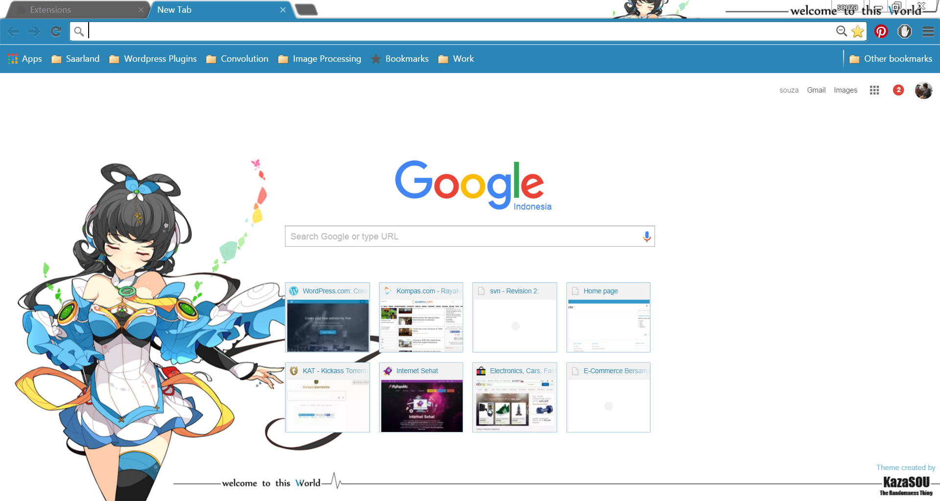 Google Chrome Theme: Luo Tianyi | Randomness Thing