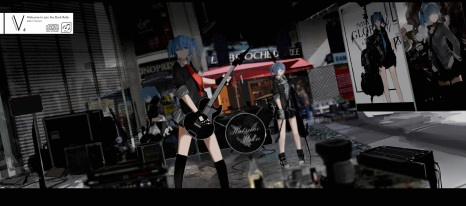 Konachan.com - 203612 boots drums guitar hatsune_miku instrument kneehighs mivit skirt vocaloid