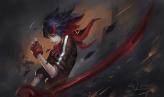 Konachan.com - 205501 gloves kill_la_kill matoi_ryuuko riyueseven short_hair signed sword weapon