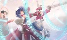 Konachan.com - 207445 asama_tomo bodysuit bow_(weapon) kikivi kyoukai_senjou_no_horizon skintight weapon