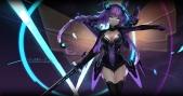 Konachan.com - 207457 blue_eyes braids gloves hyperdimension_neptunia long_hair neptune purple_hair purple_heart signed swd3e2 sword thighhighs twintails weapon