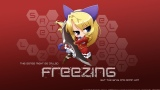 Konachan.com - 207731 akiranyo blonde_hair blue_eyes bridget_satellizer chibi freezing vector weapon