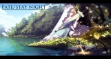 Konachan.com - 208409 fate_stay_night leaves magicians saber sword tree water weapon
