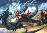 Konachan.com - 208487 armor dragon erothika magic original sword weapon