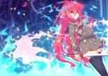 Konachan.com - 211412 aliasing long_hair nakada_daichi red_eyes red_hair seifuku shakugan_no_shana shana sword thighhighs weapon