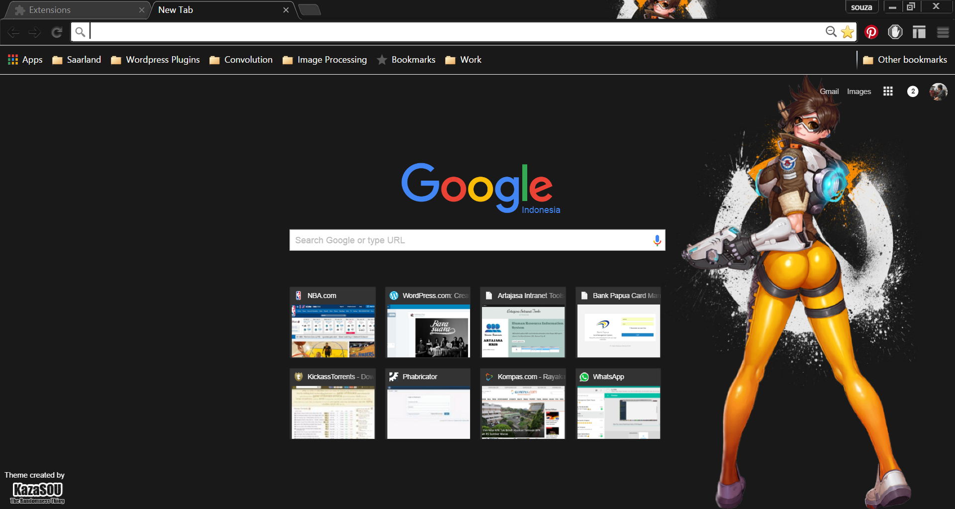 Google Chrome Theme: Tracer | Randomness Thing