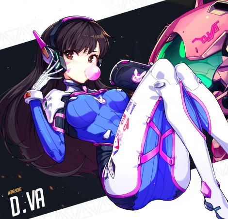 yande.re 358846 bodysuit d.va headphones hwansang overwatch
