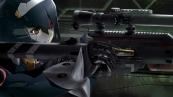 Konachan.com - 213040 bicolored_eyes brown_eyes gun lisa_(pso2) phantasy_star_online_2 red_eyes robot tagme_(artist) weapon