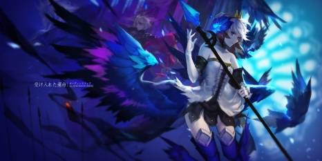 Konachan.com - 214115 animal bird gwendolyn odin_sphere spear swd3e2 thighhighs weapon wings