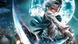 Konachan.com - 214839 gray_hair katana konpaku_youmu moon myon night photoshop red_eyes sword touhou weapon