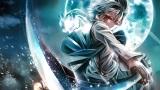 Konachan.com - 214839 gray_hair katana konpaku_youmu moon myon night photoshop red_eyes sword touhou weapon