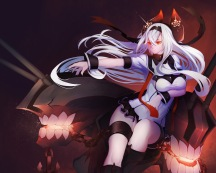 yande.re 340785 air_defense_hime_(kancolle) breast_hold gallant99770 garter horns kantai_collection
