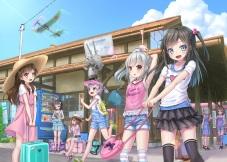 konachan-com-226059-arare_kancolle-asashio_kancolle-building-gotou_hisashi-group-kantai_collection-kasumi_kancolle-loli-ooshio_kancolle-rensou