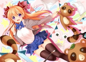 konachan-com-200712-bow-gekkan_shoujo_nozaki-kun-orange_hair-panties-purple_eyes-sakura_chiyo-seifuku-tagme_artist-teddy_bear-thighhighs-underwear