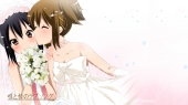 konachan-com-200808-black_hair-blush-bow-brown_eyes-brown_hair-choker-flowers-gloves-hat-hirasawa_yui-k-on-kiss-nakano_azusa-photoshop-rose-shoujo_ai-white