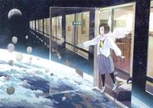 konachan-com-201214-brown_hair-clouds-gloves-moon-original-seifuku-short_hair-space-stars-tagme_artist-wings