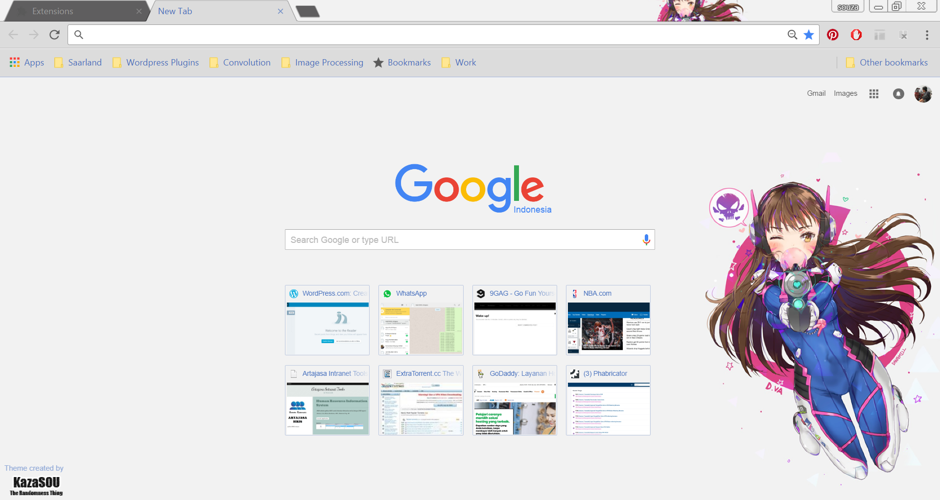 Google themes overwatch - Dva_chrome