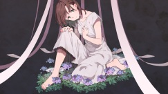 konachan-com-202469-barefoot-brown_hair-dress-flowers-leaves-original-short_hair-sonomura