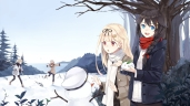 konachan-com-212501-aqua_eyes-black_hair-boots-braids-brown_hair-group-hat-hoodie-leaves-long_hair-pantyhose-ponytail-red_eyes-scarf-snow-snowman-tree-twintails-winter