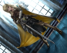 konachan-com-221136-armor-blonde_hair-blue_eyes-long_hair-original-shisshou_senkoku-sword-weapon