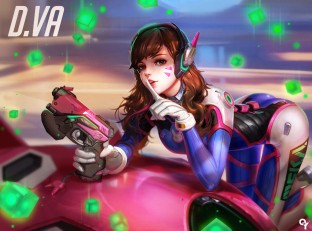 konachan-com-221482-ass-bodysuit-brown_eyes-brown_hair-d-va-gloves-gun-headphones-liang_xing-long_hair-overwatch-skintight-tattoo-weapon
