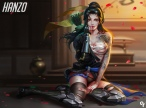 konachan-com-223737-boots-brown_eyes-genderswap-liang_xing-long_hair-overwatch-panties-petals-ponytail-realistic-sarashi-tattoo-underwear-weapon