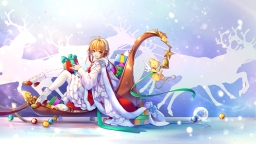 konachan-com-232688-ball-bell-bow-brown_hair-cape-christmas-dress-green_eyes-headdress-kerberos-kingchenxi-kinomoto_sakura-pantyhose-ribbons-shorts-snow
