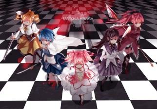 yande-re-338063-akemi_homura-dress-gun-hatsuko-heels-kaname_madoka-miki_sayaka-puella_magi_madoka_magica-sakurami_kyouko-sword-thighhighs-tomoe_mami-weapon
