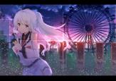 konachan-com-203012-isla_plastic_memories-koga_rejini-long_hair-night-plastic_memories-red_eyes-tears-tie-white_hair