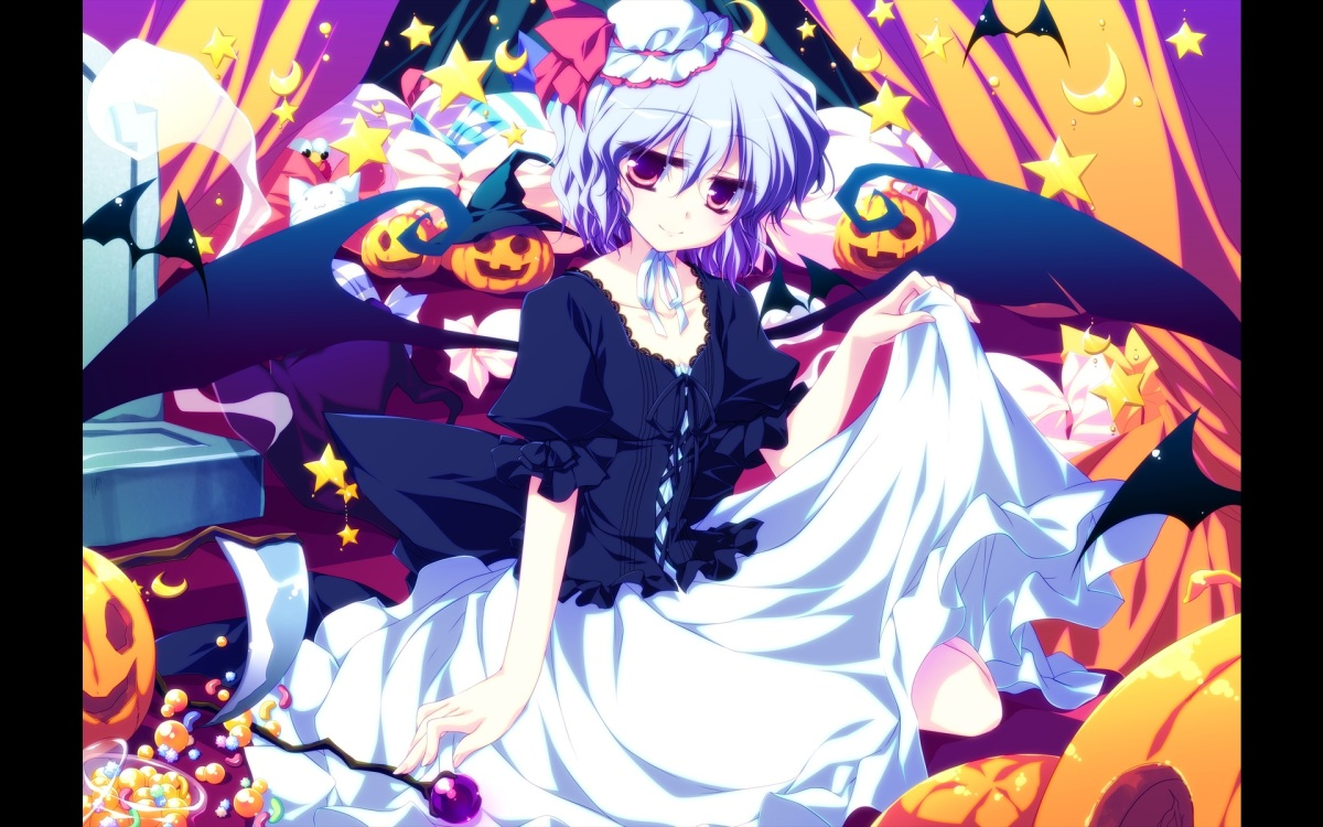 konachan-com-203968-blue_hair-motomiya_mitsuki-remilia_scarlet-short_hair-skirt-skirt_lift-touhou-wings