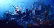 konachan-com-205720-animal-aqua_eyes-aqua_hair-boat-bubbles-dress-fish-hatsune_miku-long_hair-ruins-sombernight-twintails-underwater-vocaloid-water