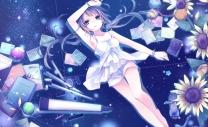 konachan-com-205828-blue_eyes-blue_hair-camera-flowers-hatsune_miku-kuroi_liar-player-necklace-paper-shorts-stars-twintails-vocaloid-wristwear