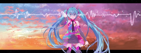 konachan-com-209108-aqua_eyes-aqua_hair-clouds-dualscreen-hatsune_miku-long_hair-sky-sunset-thighhighs-twintails-vocaloid-wogura