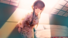 konachan-com-224849-brown_eyes-brown_hair-japanese_clothes-kimono-long_hair-porigon-tamayura_no_yado